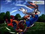 Amerikan Futbolu - Kurnaz tavşan tazmanya canavarının kardeşiyle amerikan futbolu oynuyor