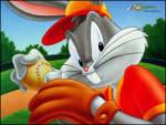 Beyzbol Bugs Bunny - Bugs bunny beyzbol topunu almış beyzbol oynuyor