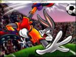 Futbolcu Bugs Bunny - Bizim yaramaz tavşan bugs bunny futbol oynuyor