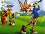 Golfc� Tav�an - Donald duck ve bugs bunny golf oynuyorlar