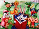 Masalcı Bugs Bunny - Tweety, slwester, kırmızı başlıklı kız toplanmışlar bugs bunny masal anlatıyor