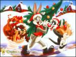 Y�lba�� Kutlamas� - Sylvester, tazmanya canavar� ve bugs bunny y�lba�� haz�rl���ndalar