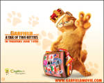 Kral Garfield 3 - Garfield giymiş tacı kendini kral zannediyor