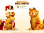 Kral Garfield - Garfield kral kıyafetlerini giymiş kral olmuş