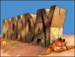 Pazartesi ve Garfield - Garfield Pazartesinin alt�nda kalm�� Sevmiyor olsa gerek