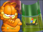 Windows XP Garfield - Garfield Windows XP arkaplanlı masaüstü resmi
