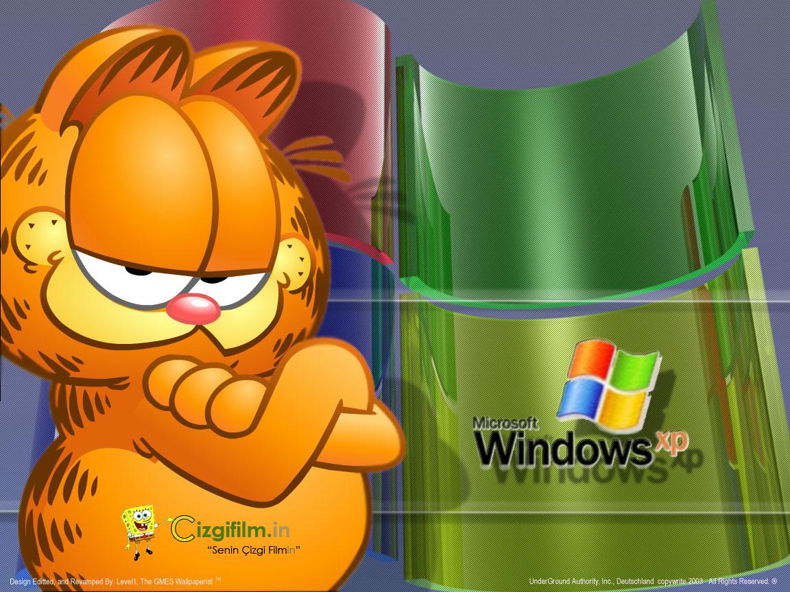 Garfield » Windows XP Garfield - Tam boy görmek için tıklayın