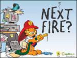 Yangına Devam - Eğer garfield itfaiyeci olursa slogan bu olur Yangına devam