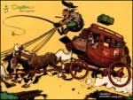 Posta Arabası - Posta arabası kasabaya doğru ilerlerken engellere uğruyor
