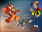 Tom Jerry ve Red Kit - Tom Jerry den kaçarken Red Kit'ten yardım istiyor