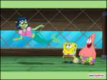 Patrick ve Sünger Bob - Patrick ve Sünger Bob deniz kızıyla selamlaşıyor