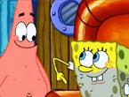"""Sünger Bob Ortada Kalmış - 7. sezon çizgi filmleri arasında yer alan """"Stuck in the Wringer"""" yani Türkçe ismiyle """"Ortada Kalmış"""" çizgi filmi içerisinde, sünger bob sıkıştığı yerden nasıl kurtulacağını bulduğunu en yakın dostu ve arkadaşı olan Patrick'e söylerken alınbış bir ekran görüntüsü."""