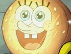 """Yağlı Yengeç Burger - Sünger bob sezon 7 bölümleri arasında yer alan """"Greasy Buffoons"""", Yağlı yengeç burger bölümünde sünger bob'un burger köftesini temizleyip hazırlarken Selfie görünümlü görüntüsü."""