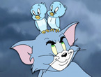 Tom ile Ku�lar - Tom ve Jerry ile Oz B�y�c�s� filminden bir kare, tom ile ku�lar