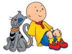 Caillou Temizlik Yapyor